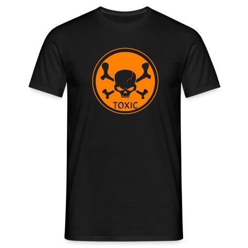 Skull Toxic Black & Orange - T-shirt Homme
