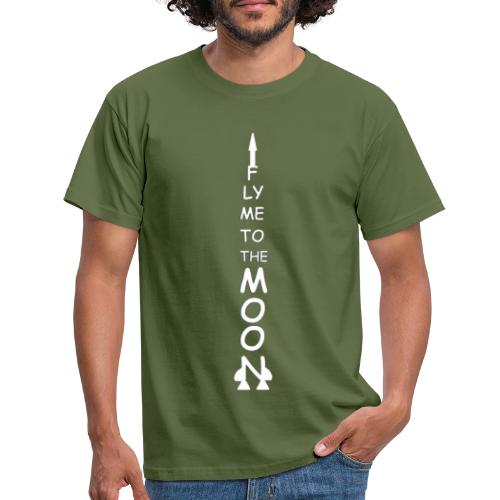 Fly me to the moon (MS paint version) - Mannen T-shirt