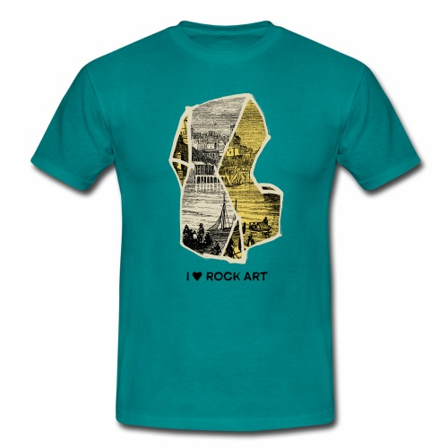 I LOVE ROCK ART No 2 colour - Mannen T-shirt