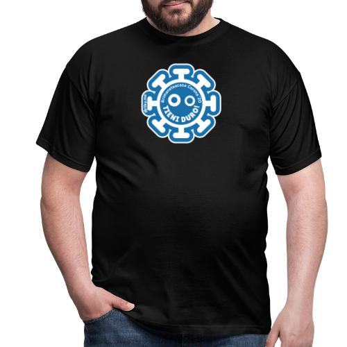 Corona Virus #rimaneteacasa azzurro - Maglietta da uomo