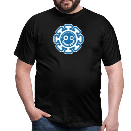 Corona Virus #restecheztoi gray bleu - Men's T-Shirt