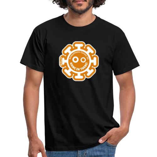 Corona Virus #stayathome orange - Maglietta da uomo