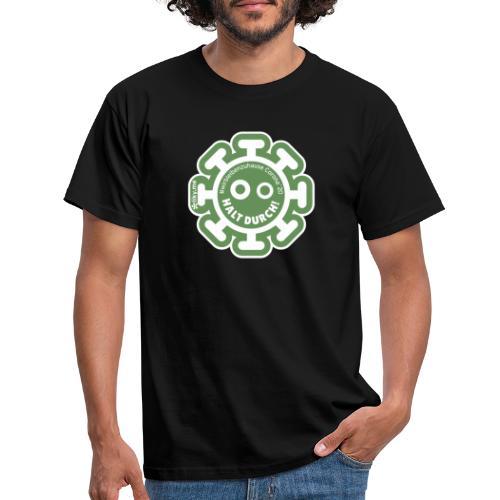 Corona Virus #WirBleibenZuhause grün - Camiseta hombre