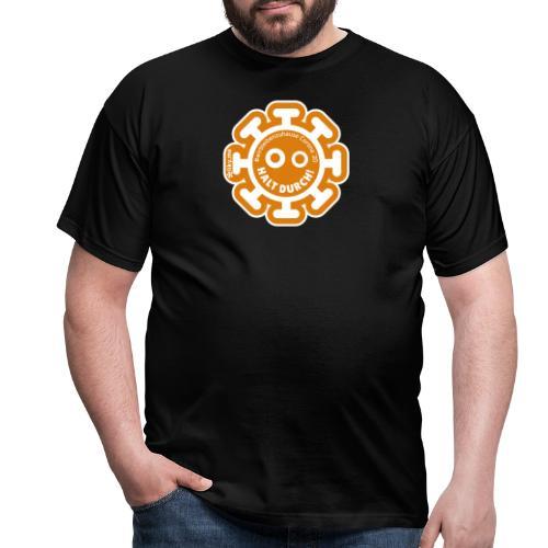 Corona Virus #WirBleibenZuhause arancione - Maglietta da uomo