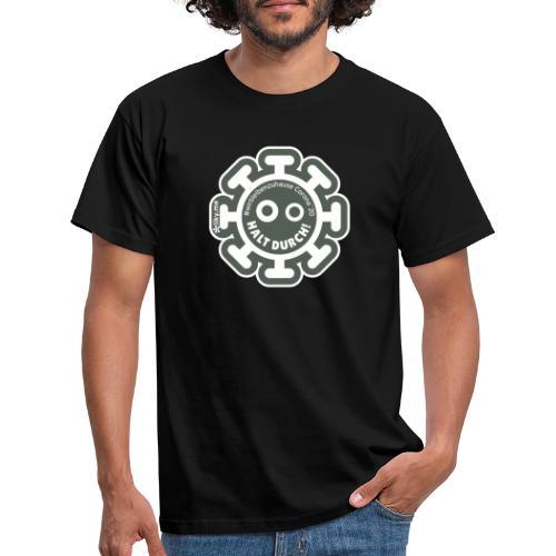 Corona Virus #WirBleibenZuhause grau - Camiseta hombre