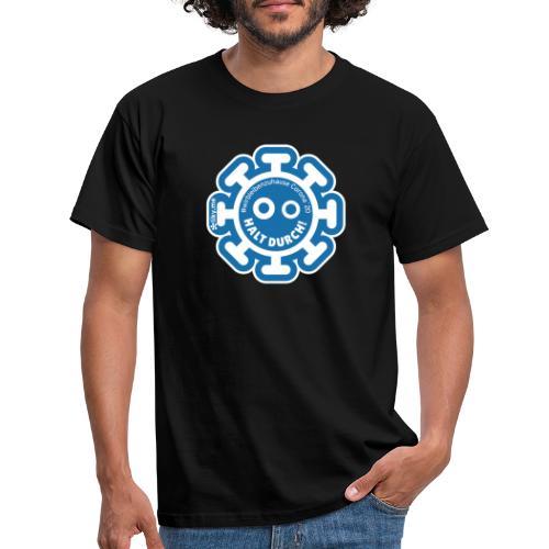 Corona Virus #WirBleibenZuhause blau - Camiseta hombre