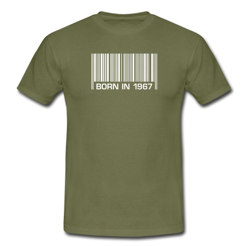 born in 1967 50th birthday 50. Geburtstag barcode - Men's T-Shirt