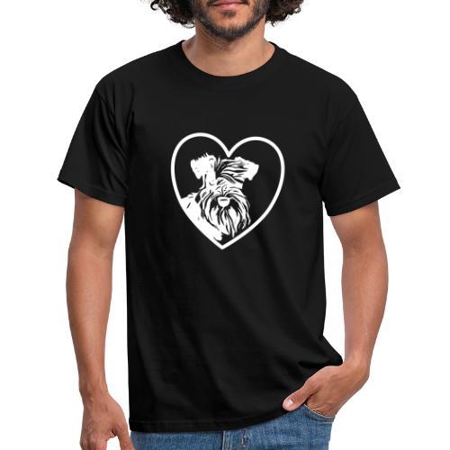 Zwergschnauzerliebe Schnauzerliebe Hunde Geschenk - Männer T-Shirt
