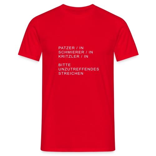 kunst patzerin - Männer T-Shirt