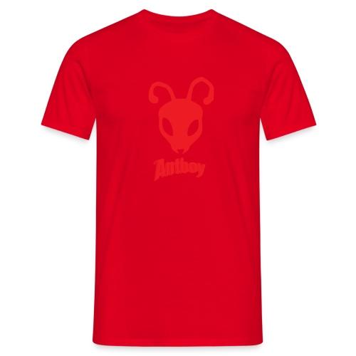 ANTBOY LOGO rød m tekst - Herre-T-shirt