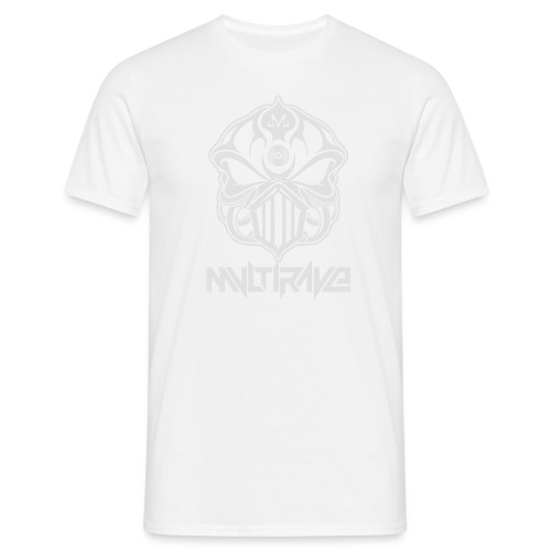 M-Skull white on black - Männer T-Shirt