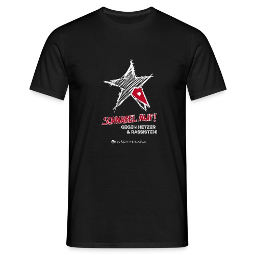 Schnabel auf gegen Hetzer und Rassisten - Männer T-Shirt
