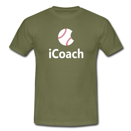 Baseball Logo iCoach - Men's T-Shirt