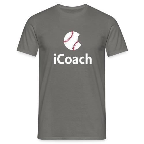 Baseball Logo iCoach - Men's T-Shirt