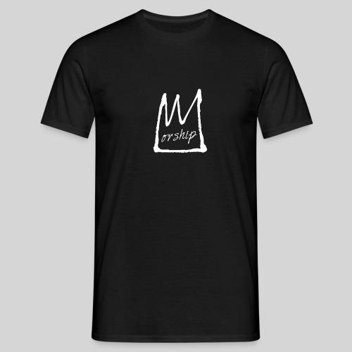Worship Krone weiß - Lobpreis zu Jesus / Gott - Männer T-Shirt