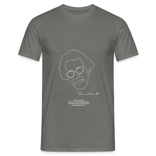 Hannah Arendt Sketch and Quote - Männer T-Shirt