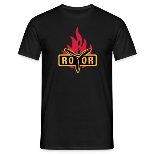 ROTOR Band Logo Fire - Männer T-Shirt