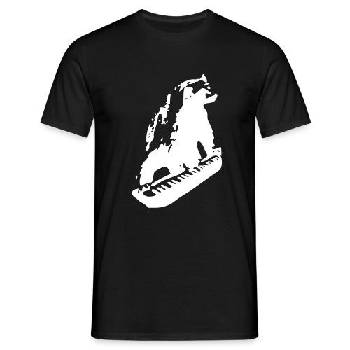Ahmankaturock-logo naisten T-paita (musta) - Miesten t-paita