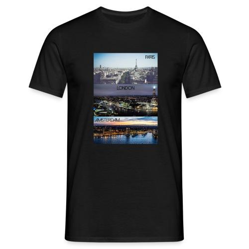 Paris London Amsterdam - Männer T-Shirt