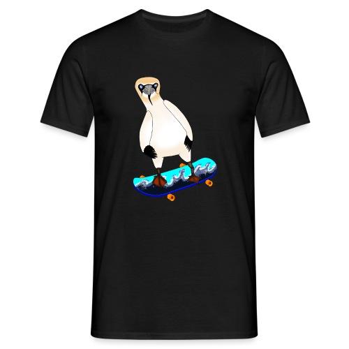 Skateboarding gannet - Men's T-Shirt
