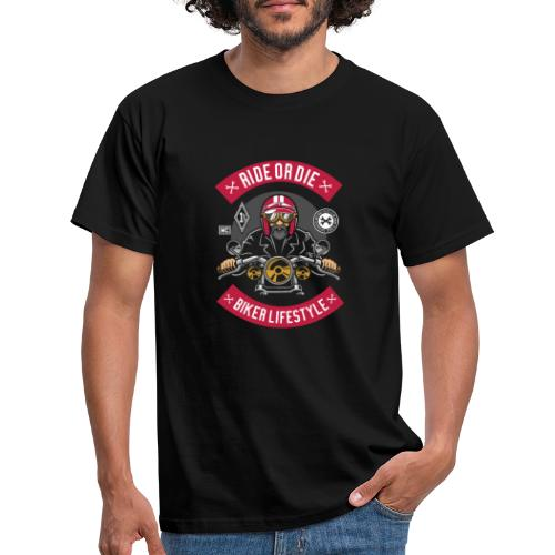 Biker Ride or Die with The Biker Lifestyle - T-shirt Homme