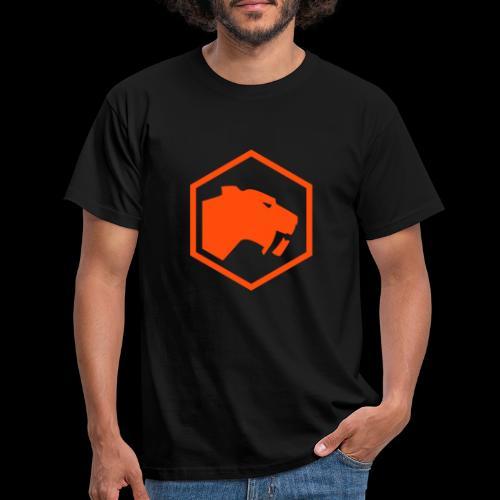 Logo Neon Orange - Männer T-Shirt