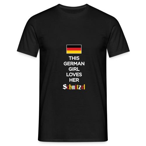 Girl loves her Schnitzel - Männer T-Shirt