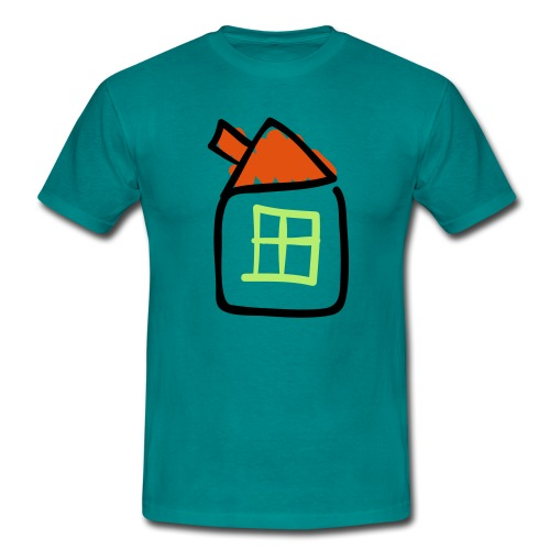 House Line Drawing Pixellamb - Männer T-Shirt