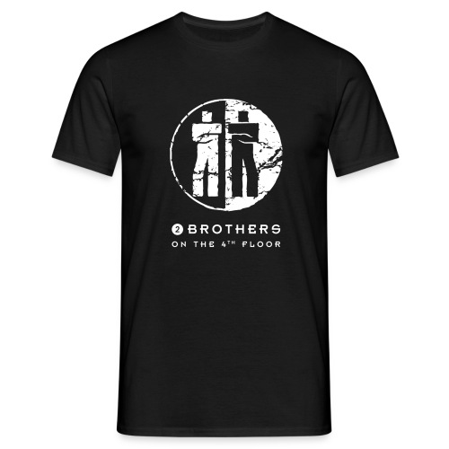 2 Brothers White text - Men's T-Shirt
