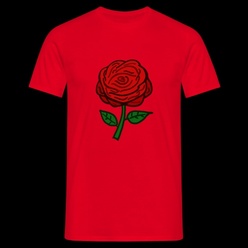 Rote Rose - Männer T-Shirt