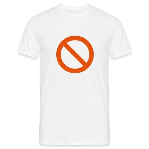verboden - Mannen T-shirt