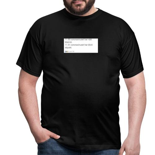 Corona-19 - T-shirt herr