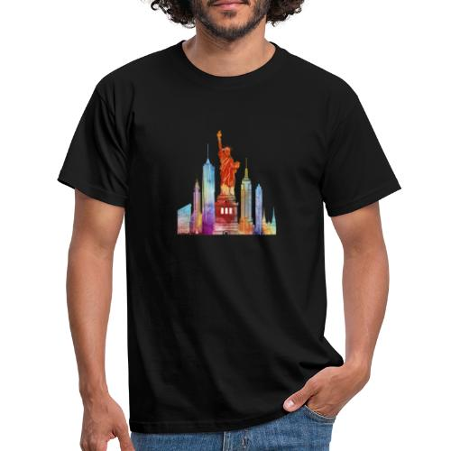 new york city watercolor - T-shirt Homme