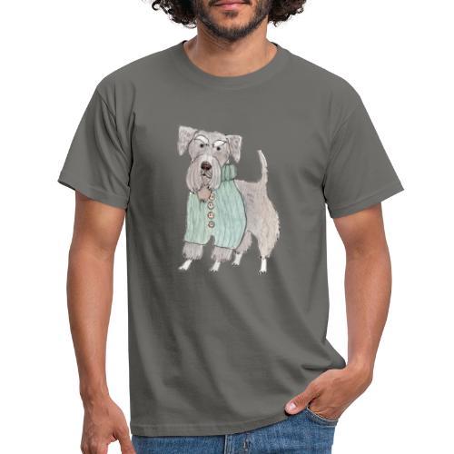 schnauzer with sweater - Herre-T-shirt