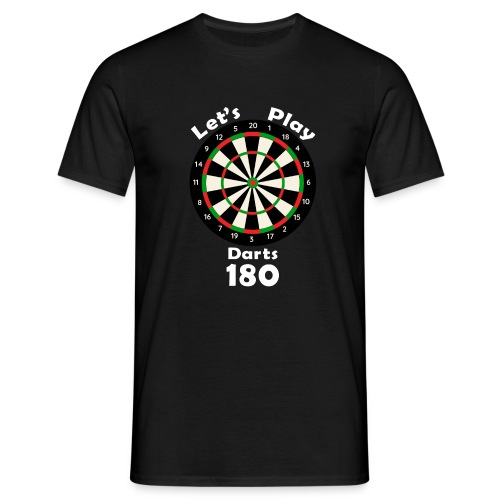 lets play darts - Mannen T-shirt