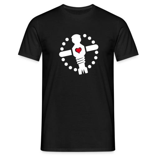 KoelnerKickerliga Logo 4c image weis png - Männer T-Shirt