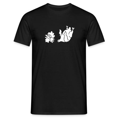 Hahn Cock Hähnchen Chicken Wings Broiler Cockfight - Männer T-Shirt