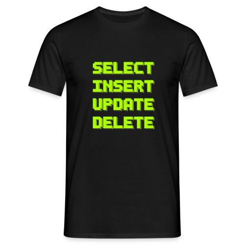 SQL pixelart black - Männer T-Shirt