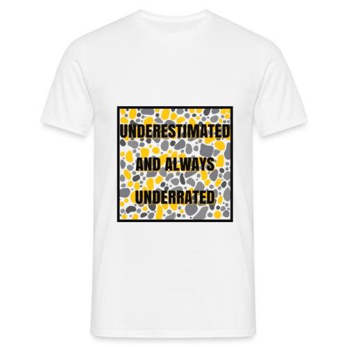 we made it lyrics block print - Men's T-Shirt