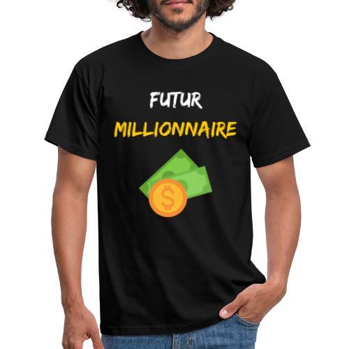 FUTUR MILLIONNAIRE ARGENT MOTIVATION - T-shirt Homme