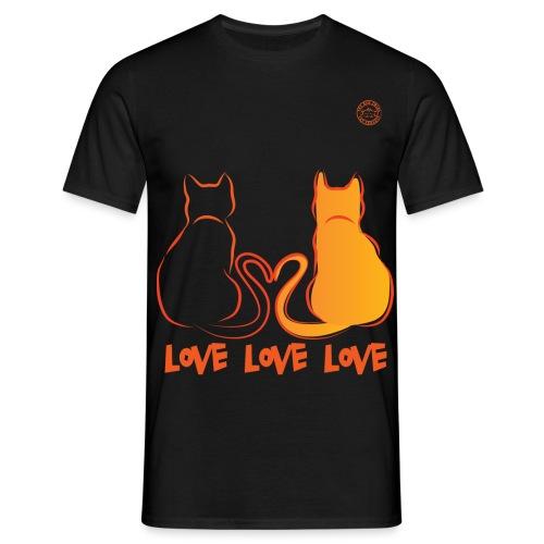 The Red Twins LOVE LOVE LOVE - Maglietta da uomo