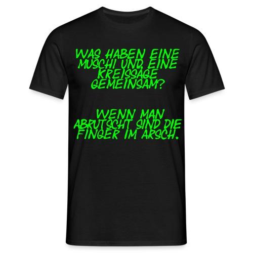 Säge und Muschi - Männer T-Shirt