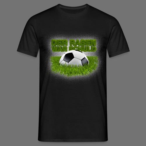 Plænen var skyld (fodbold på græs) - Herre-T-shirt