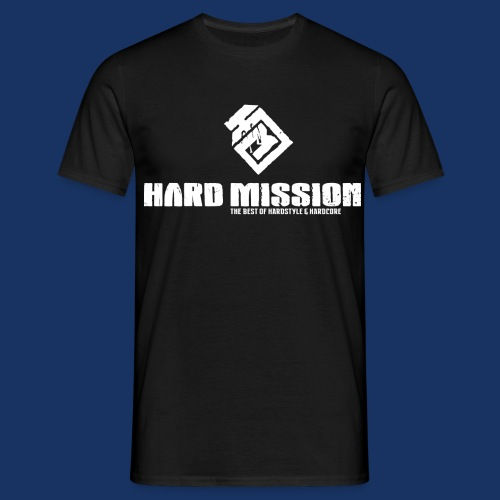 HARD MISSION LOGO Weiß - Männer T-Shirt