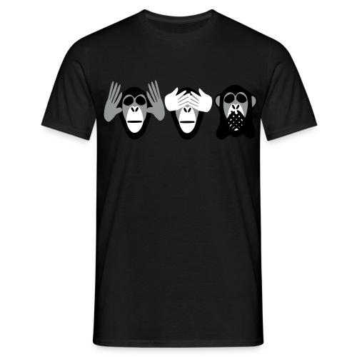 drei affen, nichts hoeren nichts sehen nichts - Männer T-Shirt