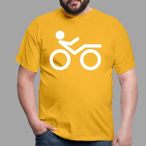 Recumbent bike white 2 - Miesten t-paita