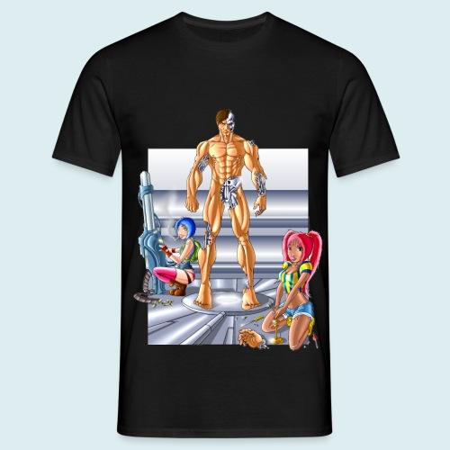 Terminator e meccaniche col - Maglietta da uomo