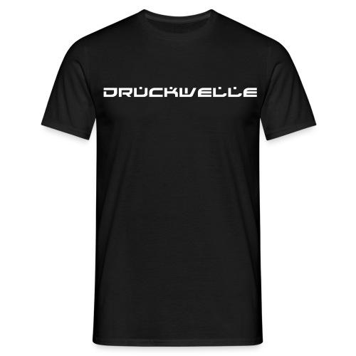 Druckwelle Schriftzug - Männer T-Shirt
