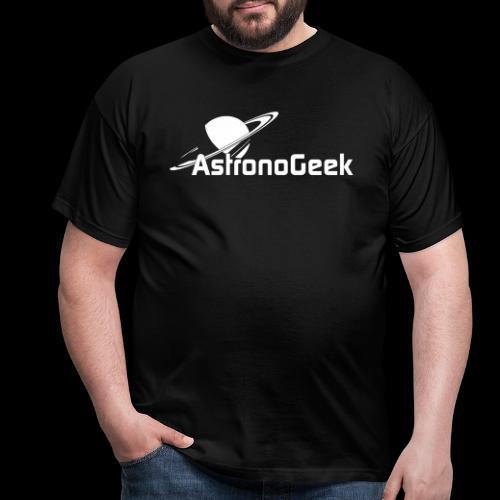 Logo AstronoGeek avec texte - T-shirt Homme