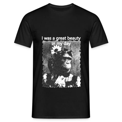 Funny Chimpanzee Old Age Joke Design - Men's T-Shirt